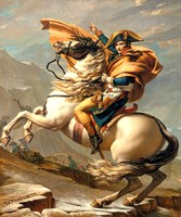Napoleon Crossing the Alps at the St Bernard Pass Framed Print