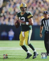 Aaron Rodgers 2014 holding the ball Fine Art Print
