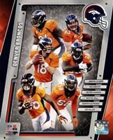 """Denver Broncos 2014 Team Composite - 8"""" x 10"""", FulcrumGallery.com brand"""