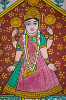 Wall Mural in the City Palace, Rajasthan, India Fine Art Print
