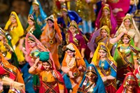 Figurines at the Saturday Market, Goa, India Fine Art Print