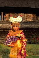 Bride in Traditional Dress in Ulur Danu Temple, Lake Bratan, Bali, Indonesia by Bill Bachmann - various sizes