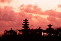 Sunset at the Temple by the Sea, Tenah Lot, Bali, Indonesia by Bill Bachmann - various sizes