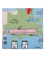 "Pink Car by Brian Nash - 11"" x 14"""