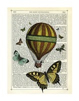 Butterflies & Balloon Fine Art Print