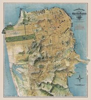 Map of San Francisco, California, 1912 Framed Print