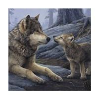 "24"" x 24"" Wolf Art"