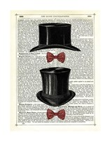 Top Hat & Bow Ties Framed Print