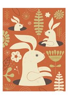 Pop up Bunny Fine Art Print