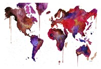 Watercolor Map No. 1 Fine Art Print