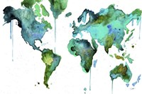 Watercolor Map No. 6 Fine Art Print