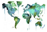 "19"" x 13"" World Maps"