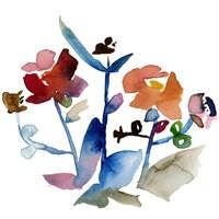 "Nouveau Boheme No. 1 - Japanese Garden Series by Kiana Mosley - 16"" x 16"""