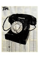 Black Phone Fine Art Print