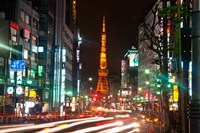 Tokyo, Japan, Tokyo Tower in Shiba Park Fine Art Print