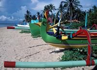 Fishing Outriggers on Sanur Beach, Indonesia Fine Art Print