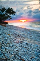Gili Islands, Indonesia, Sunset along the beach Fine Art Print