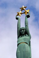 The Freedom Monument for the Latvian War of Independence, Riga, Latvia Fine Art Print