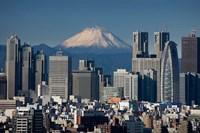 Tokyo, Shinjuku, City Skyline, Mount Fuji, Japan Fine Art Print
