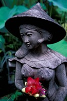 Shrine of Buddha with Flower Decoration, Bali, Indonesia by Keren Su - various sizes