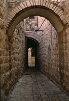 Arch of Jerusalem Stone and Narrow Lane, Israel Fine Art Print