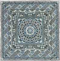 "Blue Silver Tile IV by Paula Scaletta - 12"" x 12"""