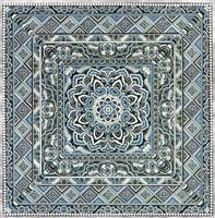 Blue Silver Tile IV Fine Art Print