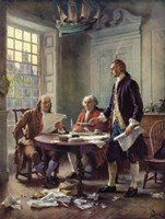 "Writing the Declaration of Independence, 1776 by Jean leon gerome Ferris, 1776 - 18"" x 24"""