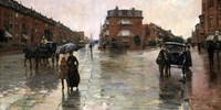 Rainy Day, Boston, 1885 Fine Art Print