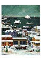 Winter in Nantucket Harbor Fine Art Print