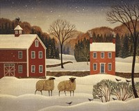 Winter Sheep I Fine Art Print