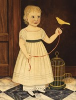 Girl with Bird Fine Art Print