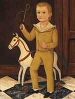 Boy with Horse Framed Print