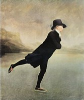"Reverend Walker Skating by Sir Henry Raeburn - 20"" x 24"""