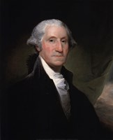 Portrait of George Washington, 1795 Fine Art Print