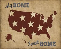 My Home Sweet Home USA Map Fine Art Print