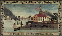 Situation of America, 1848 Fine Art Print