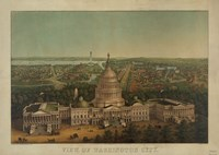View of Washington City, c. 1869 Fine Art Print