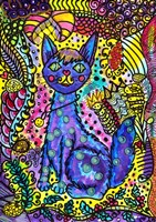 Crazy Cat Fine Art Print