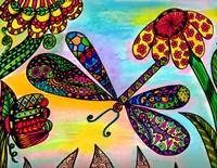 Dragonfly Paradise III Fine Art Print