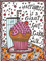 Happiness Is A Giant cupcake Fine Art Print