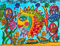 Hippie Puffer Fish Fine Art Print