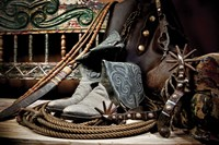 TC's Boots and Yuma Spurs (color) Fine Art Print