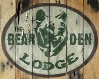 The Bear Den Lodge Fine Art Print
