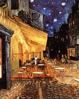 The Cafe Terrace on the Place du Forum, Arles, at Night, c.1888 Fine Art Print