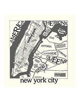 New York Map Fine Art Print