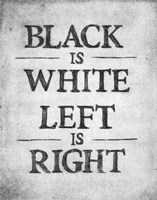 Black is White Fine Art Print