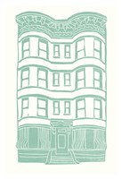 Williamsburg Building 4 (Brownstone) Fine Art Print