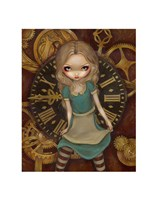 Alice and Clockworks Fine Art Print