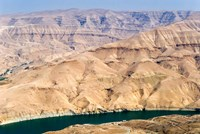 Wadi Al Mujib Dam and lake, Jordan Fine Art Print